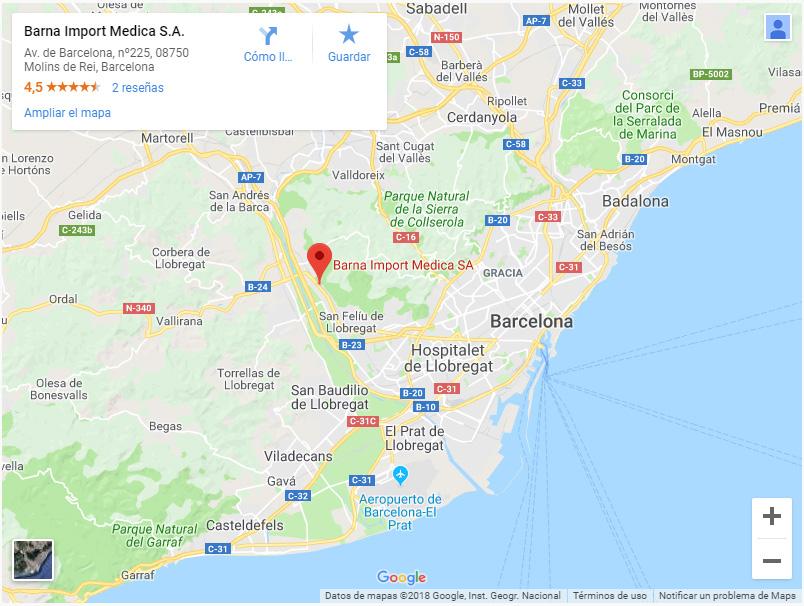 Mapa Molins De Rei.Contact Bimedica